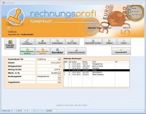 Kassenbuch per Software führen mit Rechnungsprofi Kassenbuch