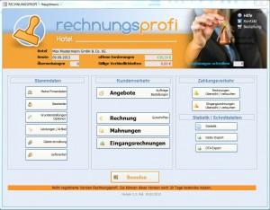 Angebote, Hotelrechnungen, Mahnwesen, Gästeverwaltung, Eingangsrechnungen  - die Software für Hotel und Gastronomie