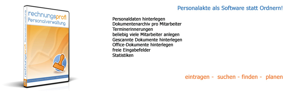 Rechnungsprofi Personalverwaltung