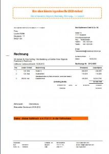 Rechnung für Privatkunden, Bruttorechnung, Ausdruck Rechnung im Bruttomodus
