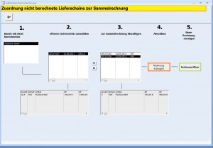 Sammelrechnungen und Sammellieferscheine