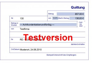 Quittung am PC, Quittungssoftware, Quittungen