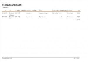 Software, Programm, Mutser, Vorlage Postbuch